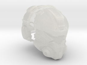 1:6 Scale Sci-Fi Pilot Helmet FUD in Smooth Fine Detail Plastic