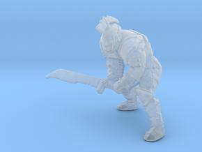 Skeleton Gladiator miniature model fantasy dnd rpg in Smooth Fine Detail Plastic