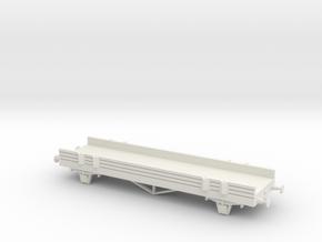 CCTV Flatcar in White Natural Versatile Plastic