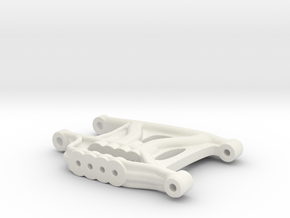 B3 Mid Motor Dyna Storm rear suspension arm in White Natural Versatile Plastic