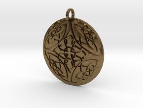Celtic Knots Ornament Amulet in Natural Bronze