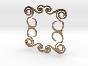 Ornamental Pendant in Raw Brass