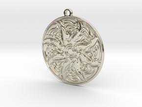 Mandala in 14k White Gold: Small