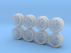 D Racing 8-0 Hot Wheels Rims in Smooth Fine Detail Plastic