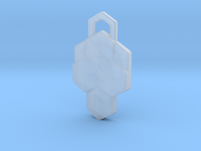 Tesseract Pendant in Smooth Fine Detail Plastic