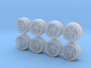 Turbo Twist 3p 9-0 Hot Wheels Rims in Smooth Fine Detail Plastic