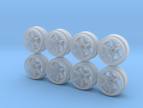 Rays TE37 9-0 Hot Wheels Rims in Smooth Fine Detail Plastic
