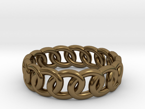 GBW14 Lds Band in Polished Bronze