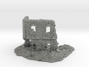 1/144 Stone Building Ruin Game/Diorama Base in Gray PA12