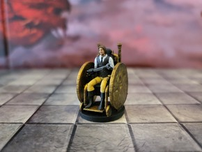 Human Male Artificer on Battle Wheelchair in Smooth Fine Detail Plastic