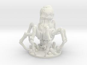 Knobby White Spider in White Natural Versatile Plastic