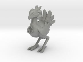 Final Fantasy Chocobo miniature model game rpg dnd in Gray PA12