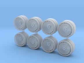 TurboFan Aero 9 Hot Wheels Rims in Smooth Fine Detail Plastic