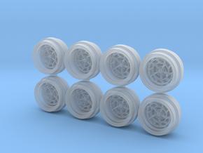 7K Circ 8-5 Hot Wheels Rims in Smooth Fine Detail Plastic