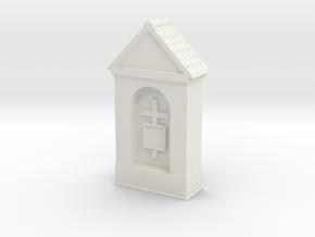 Small Chapel 1/87 in White Natural Versatile Plastic