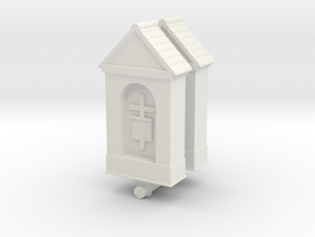Small Chapel (x2) 1/120 in White Natural Versatile Plastic