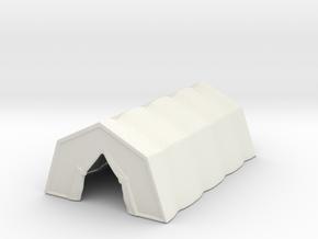 Military Tent 1/160 in White Natural Versatile Plastic