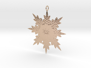Snowflake in 14k Rose Gold: Small