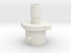Air Pump Adapter in White Natural Versatile Plastic