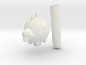 Memorial Charm in White Natural Versatile Plastic