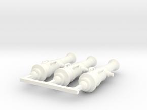 3 x Napolonic Gun in White Processed Versatile Plastic