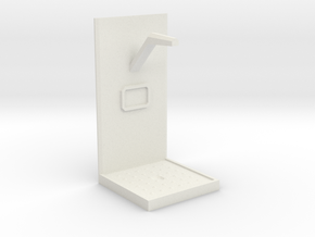 Future Shower Unit - 28mm to 32mm scale in White Strong & Flexible