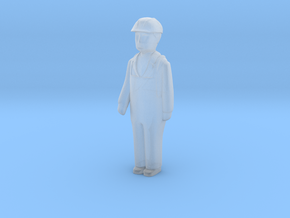 Capsule Worker HH Bent Arm Right 1 in Smooth Fine Detail Plastic