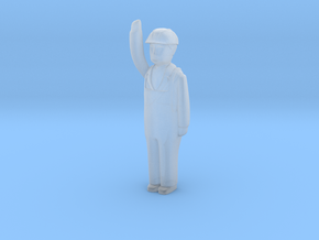 Capsule Worker HH Bent Arm Right 3 in Smooth Fine Detail Plastic