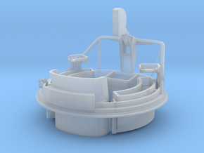 1/24 USN PT Boat 109 Fore Turret MG Mount in Smooth Fine Detail Plastic