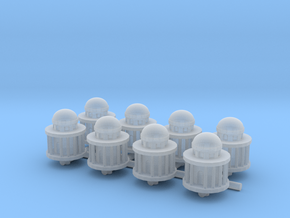 1/285 Scale Generic Capital Dome x8 in Smooth Fine Detail Plastic