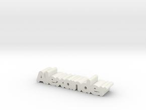 Alexander in White Natural Versatile Plastic