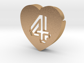 Heart shape DuoLetters print 4 in Natural Bronze