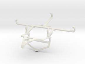 Controller mount for PS4 & HTC Wildfire E1 lite -  in White Natural Versatile Plastic