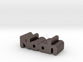 Noah in Polished Bronzed Silver Steel