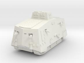 A7V 501 female Tank 1/72 in White Natural Versatile Plastic