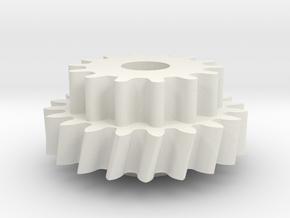 Lima IRM dubbel tandwiel in White Natural Versatile Plastic
