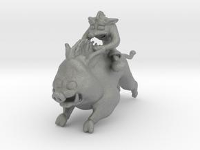 Crash on Hog miniature model fantasy games dnd rpg in Gray PA12