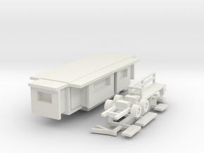 Wohnwagen Kasten 10m 1:220 (Z scale) in White Natural Versatile Plastic