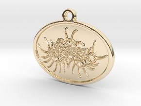 Centipede pendant in 14K Yellow Gold