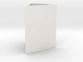 triangle pen holder in White Natural Versatile Plastic: Small