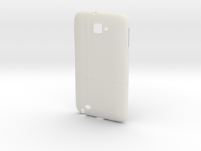 Samsung Galaxy Note 1 Case Stitched Leather in White Natural Versatile Plastic