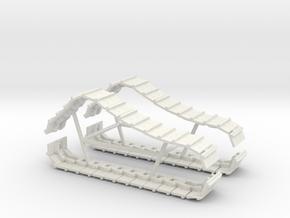 Bulldozer Tracks 1/64 in White Natural Versatile Plastic