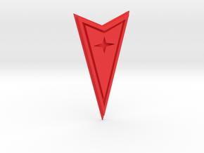 Pontiac Crest in Red Processed Versatile Plastic