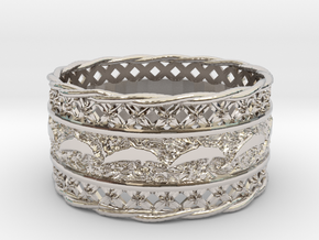 Dolphin Bangle in Rhodium Plated Brass