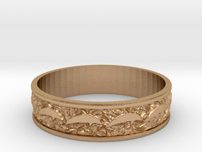 Dolphin Bangle - Simplified in Natural Bronze