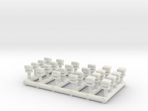 1/64 GO Lights in White Natural Versatile Plastic