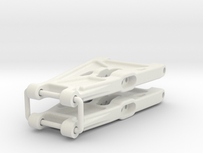 Team Losi A-1001 Jrx-2 Front A-Arms in White Natural Versatile Plastic