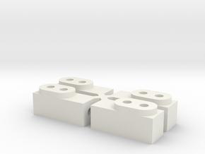 Tamiya Fox B Parts #6 Servo Mounts in White Natural Versatile Plastic