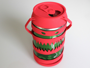 Cannibal Can in Red Processed Versatile Plastic