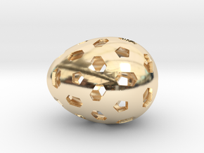 Mosaic Egg #1 in 14K Yellow Gold